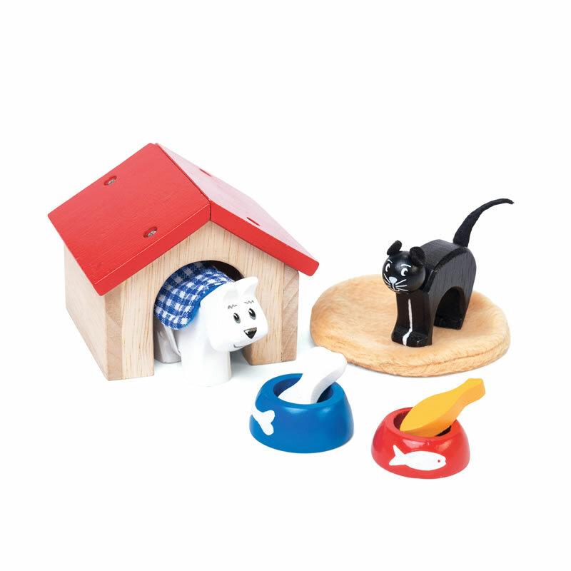 Le toy van spielset mit hund und katze puppenhaus for Puppenhaus beleuchtung set