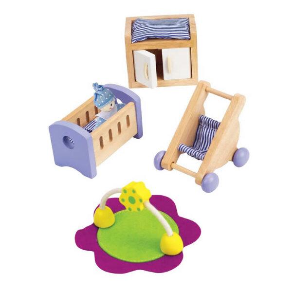Modernes Babyzimmer hape puppenhausmöbel modernes babyzimmer puppenhaus welt de