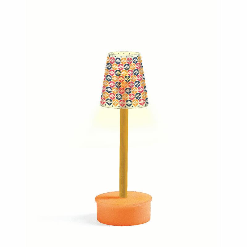 djeco puppenhaus stehlampe led batteriebetrieben. Black Bedroom Furniture Sets. Home Design Ideas