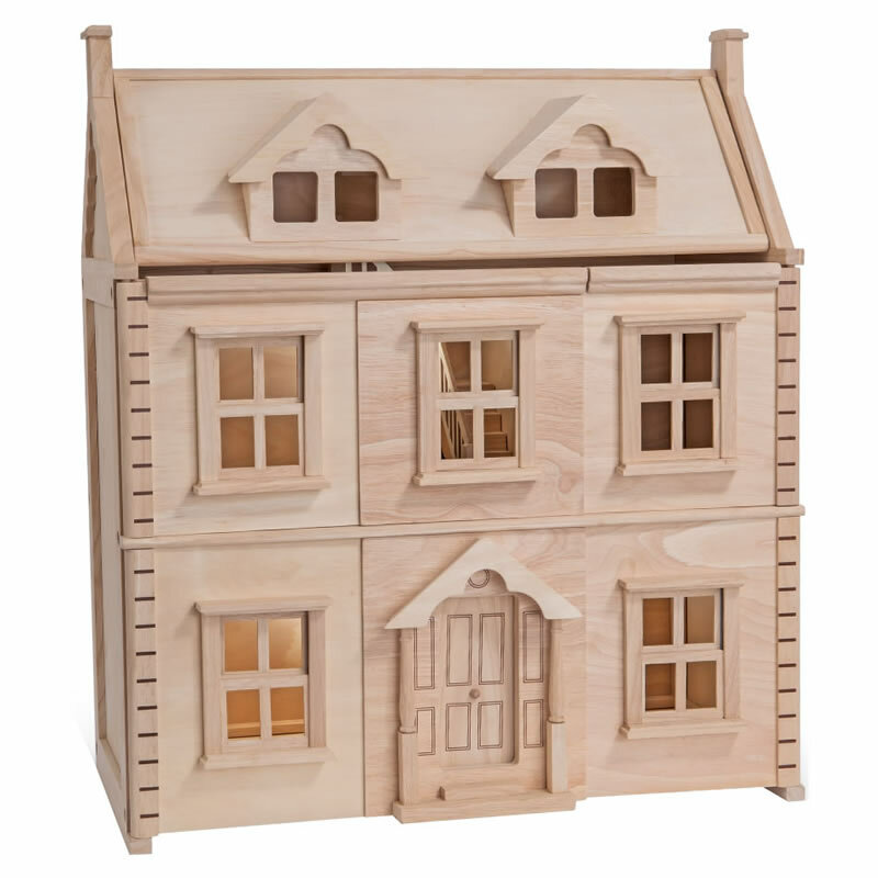 plantoys viktorianisches puppenhaus puppenhaus. Black Bedroom Furniture Sets. Home Design Ideas