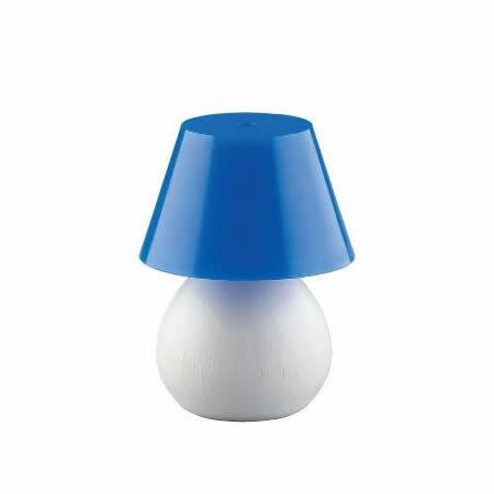 tischlampe klein mit blauem schirm puppenhaus. Black Bedroom Furniture Sets. Home Design Ideas