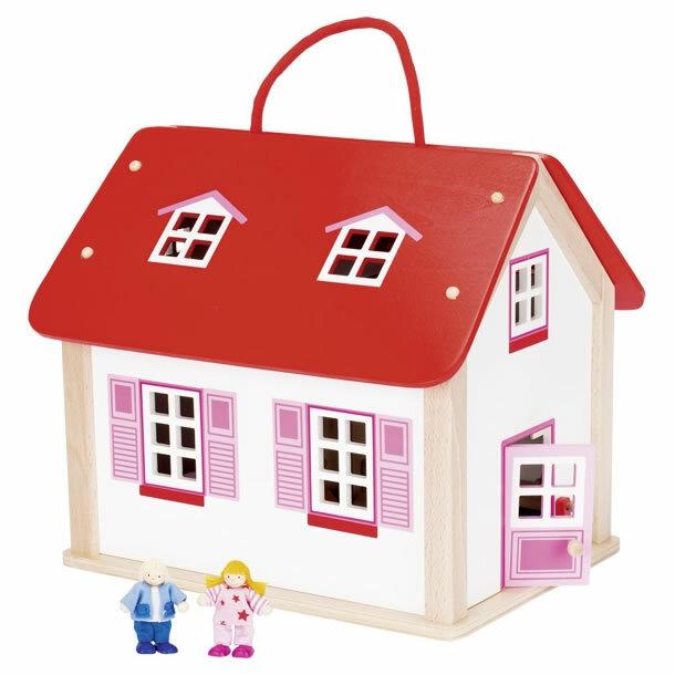 goki koffer puppenhaus mit zubeh r puppenhaus. Black Bedroom Furniture Sets. Home Design Ideas